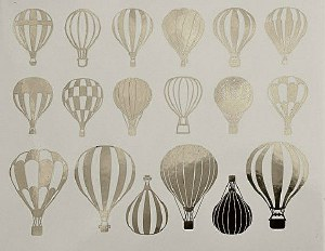 Gold Luster Decal, Balloons