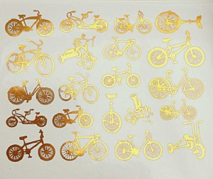 Gold Luster Decal, Bikes