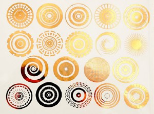 Gold Luster Decal, Circles