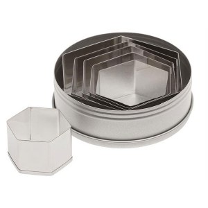 Hexagon Cutters Set of  6