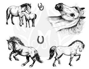 Horses Silk Screen