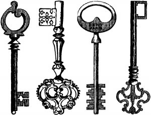 Keys Decals Black