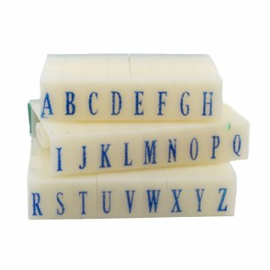 Letter Stamps Set, 1.1cm