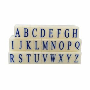 Letter Stamps Set, 2.2 cm