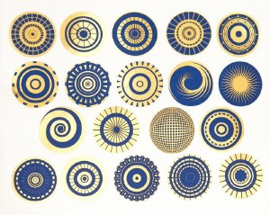 Luster Color Small Circles Blu