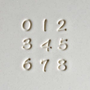 MKM Numbers Font Stamp Set