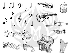 Music Silk Screen