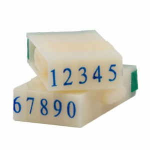 Number Stamps Set, 0.6 cm