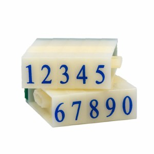Number Stamps Set, 1.1 cm