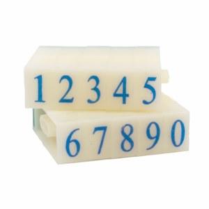 Number Stamps Set, 1.3 cm