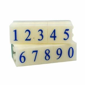 Number Stamps Set, 2.2 cm