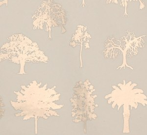 Silver Luster Decal, Trees