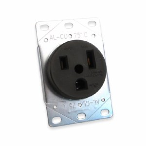 Receptacle 50 Amp 6-50R, Flush