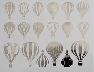 Silver Luster Decal, Balloons