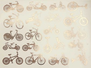 Silver Luster Decal, Bikes
