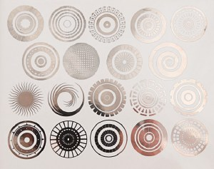 Silver Luster Decal, Circles