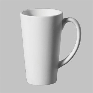 Stoneware Bisque Latte Cup