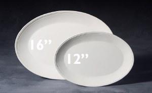 "Stoneware Bisque Oval Pla. 12"""