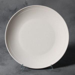 Stoneware Bisque Rimmed Plate