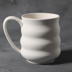Stoneware Bisque Wavy Mug