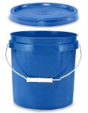 2 Gallon Bucket w/ Lid (Blue)