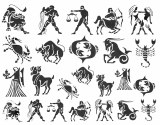 Zodiac Decals Black
