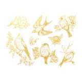 Gold Luster, Birds