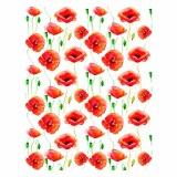 Overglaze Decal, Poppies
