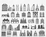 Architecture Decals Black