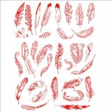 Decal, Rice Paper 84 Red