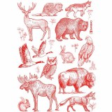 Decal, Rice Paper 104 Red