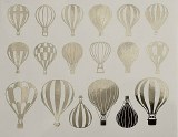 Copper Luster Decal, Balloons