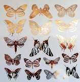 Gold Luster Decal, Butterflies