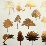 Gold Luster Decal, Trees