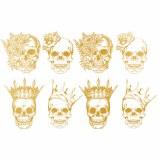 Gold Luster Skulls