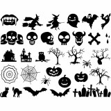 Halloween Decals Black