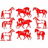 Decal, Rice Paper 103 Red