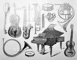 Instruments Decals Black