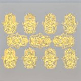 Gold Luster Decal, Hamsa Hands