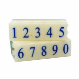 Number Stamps Set, 2.2 cm