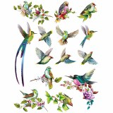 Overglaze Decal-Birds