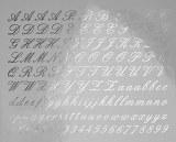 Script Letters Decals Black