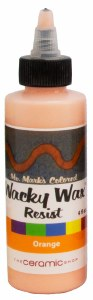 Wacky Wax Resist, Orange, 4 oz