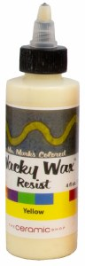 Wacky Wax Resist, Yellow 4oz