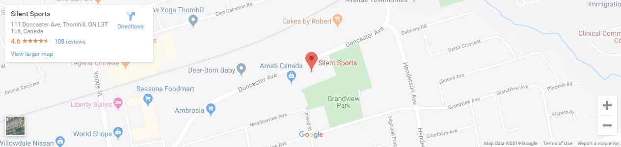 Store location on a map for Silent Sports
