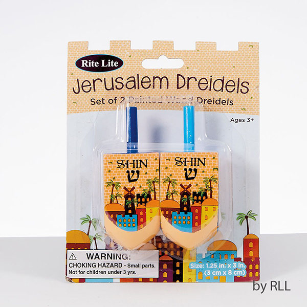 Jerusalem & Israel Designed Dreidels
