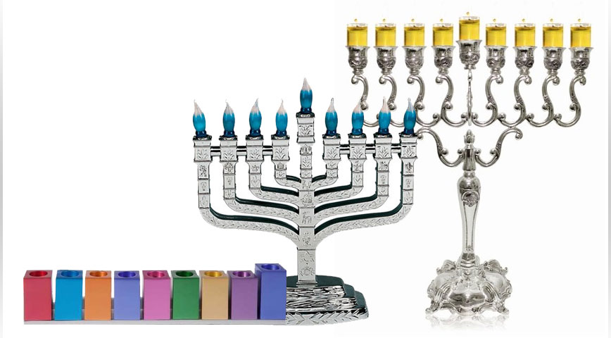 Hanukkah Superstore Menorahs Candles And More The Judaica Place