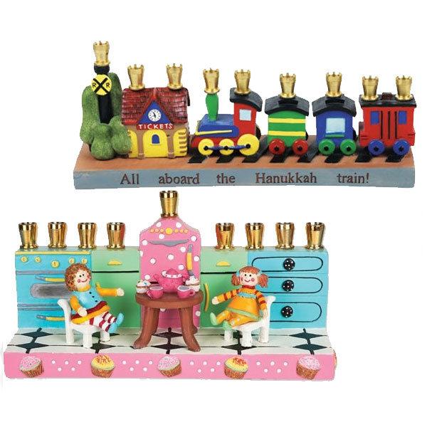 Children's Themed Candle Menorahs