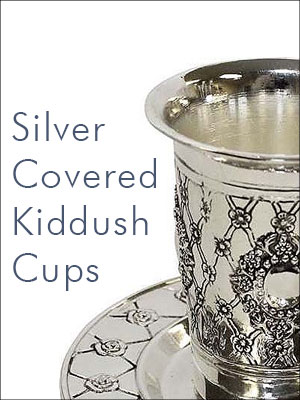 Silver Covered Kiddush Cups