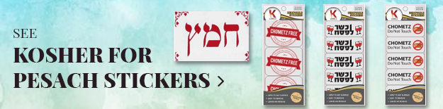 kosher for pesach stickers